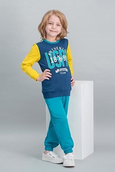 U.S. Polo Assn. U.S. Polo Assn Lisanslı Mavi Erkek Çocuk Eşofman Takımı Lacivert